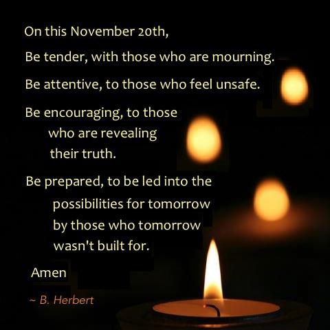 B Herbert TDOR quote